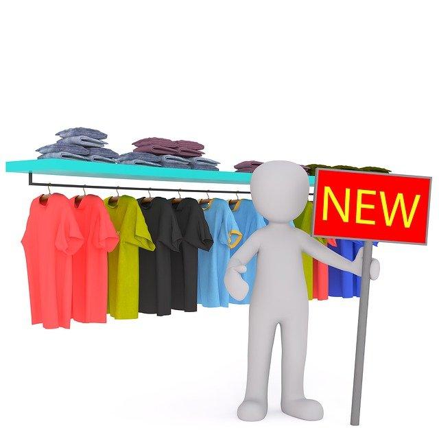prodej nového oblečení