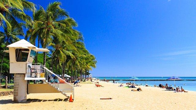 Havajské pláže jako zkatalogu