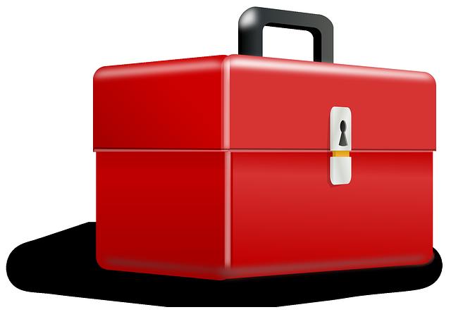 červený box