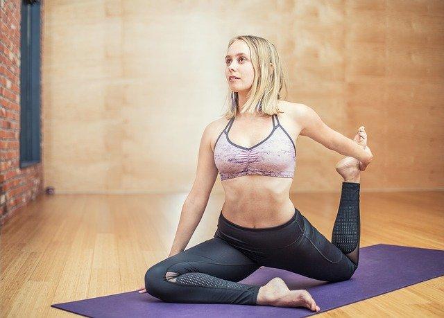 yoga na podložce