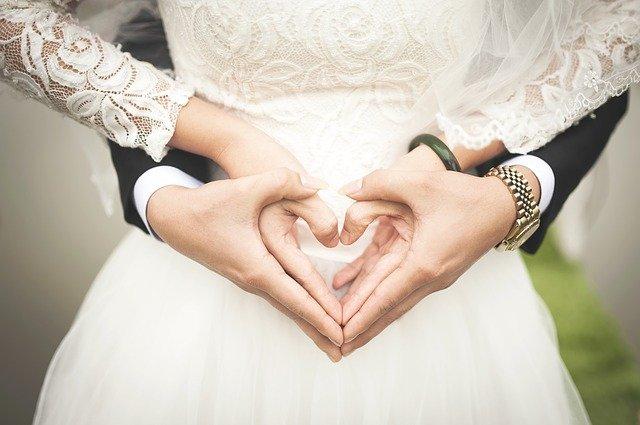 srdce novomanželů