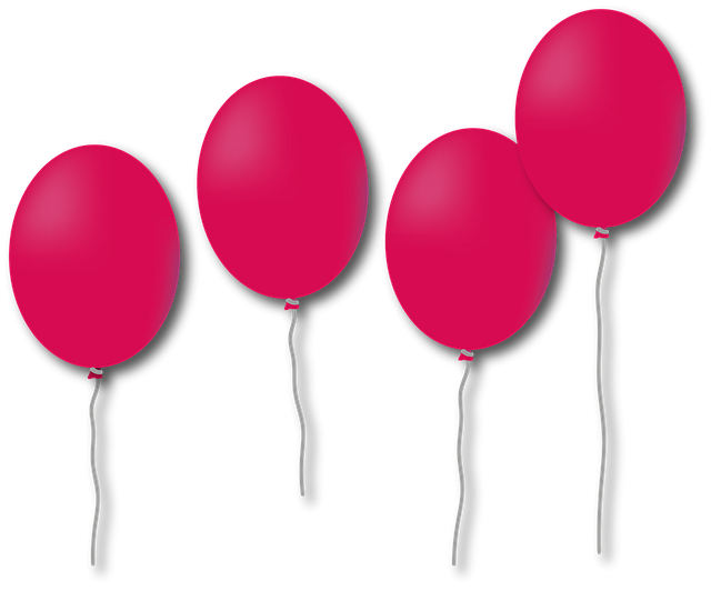 růžové balonky