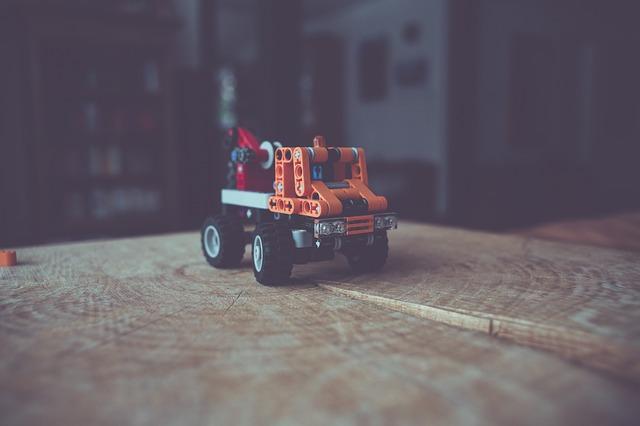 auto ze stavebnice