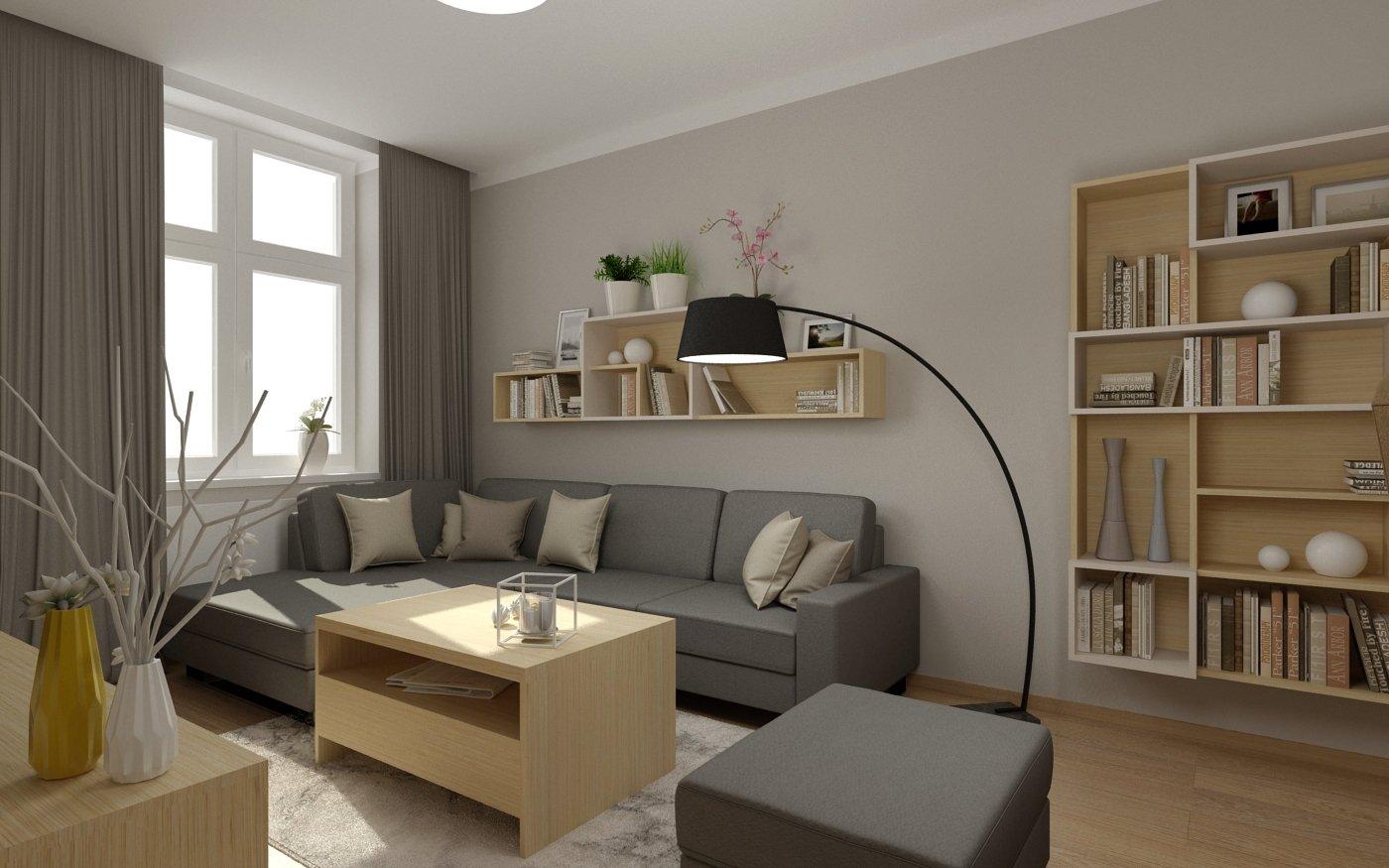Obývací pokoj je nejdůležitější část domu