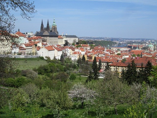 pohled z Petřína na Pražský hrad.jpg
