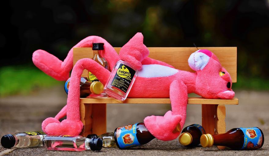 opilý růžový panter